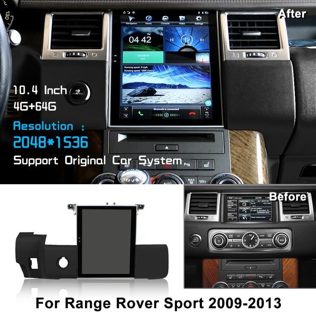 "Android 10.4 ""Tesla Vertikale Bildschirm Auto Radio Für Land Rover Sport V8 2009 2010 2011 2012 2013 LiisLee Multimedia GPS"