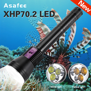 Asafee 3*XHP70.2 LED Diving Fl