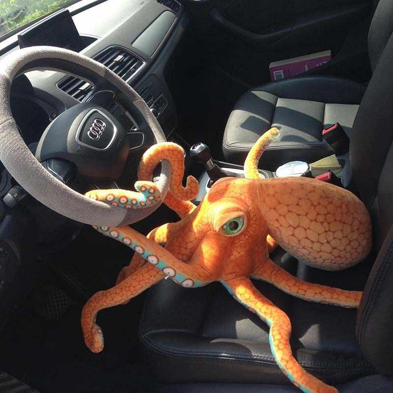 1 stücke ins 55-80cm Simulation Echten Leben Große Krake Puppe Octopus Plüsch Spielzeug Kissen Meer Boden Tier puppe Kreative Realistische Geschenk