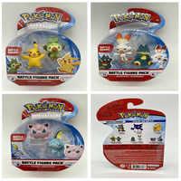 TAKARA TOMY-figuras de acción originales de Pokémon, muñecos de pvc de Sword Grookey, Sword, Sword, Grookey, scorrabbit, Pokeball, Pop-up, Elf ball, regalos para chico