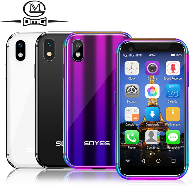 """Soyes xsスモールミニ4 3gスマートフォンのサポートgoogleのプレイ3ギガバイト + 32ギガバイト2ギガバイト + 16ギガバイト3.0 """"携帯電話android 6.0のロック解除デュアルsim顔id"""