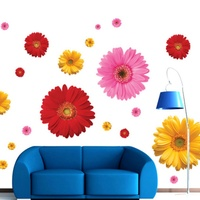 Chrysanthemums Daisy DIY Wall Decal Wall Stickers Flowers Removable Waterproof Mural For Bedroom Living Room