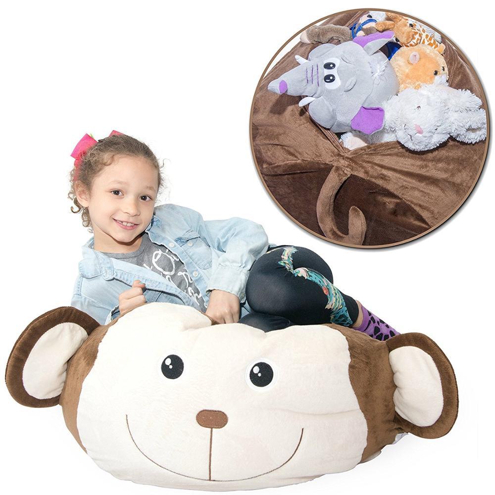 Stuffed Animal Plush Toy Storage Bean Bag