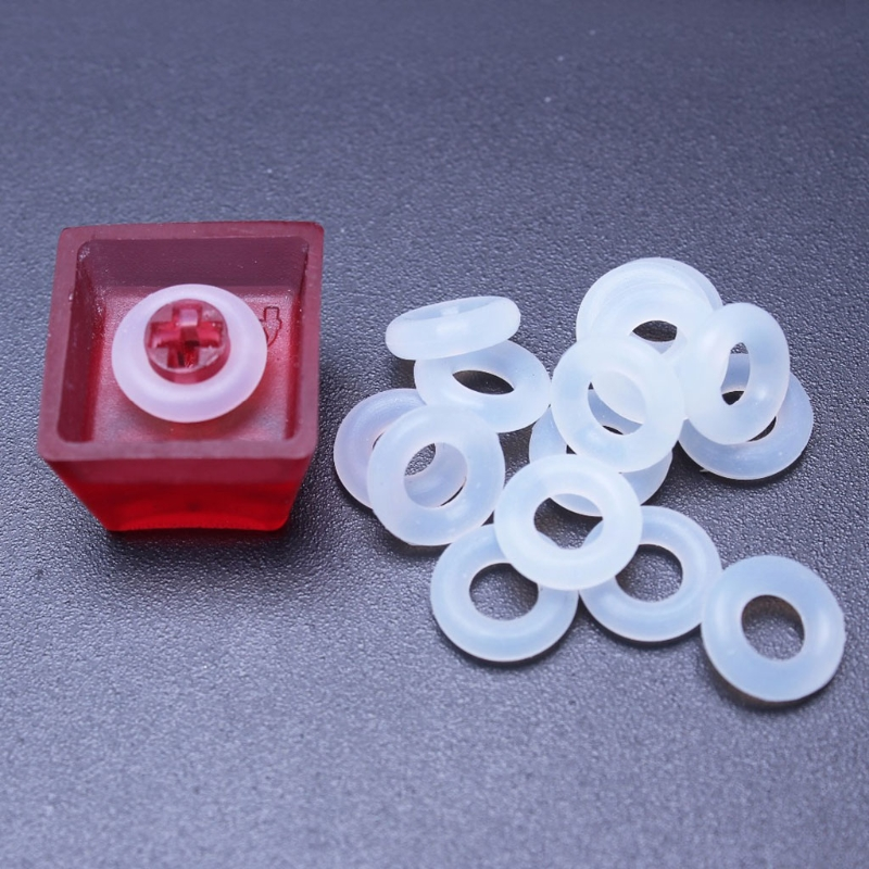 120Pcs Keycaps Rubber O-Ring Switch Dampeners For Cherry MX Keyboard