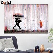 Conisi Graffiti Kunst Wand Malerei Straße Kunstwerk Doodle Poster Banksy Bunte Regen Dady und Kid Home Decor für Kinder Schlafzimmer