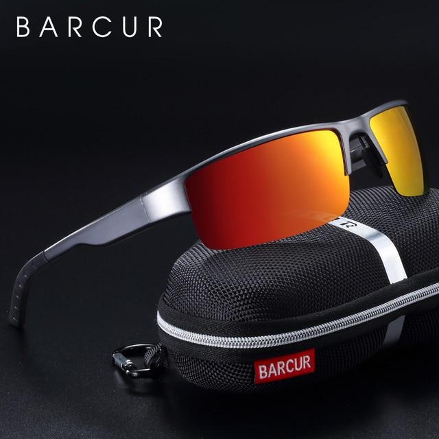 Óculos de sol polarizados para homem óculos de sol de magnésio de alumínio