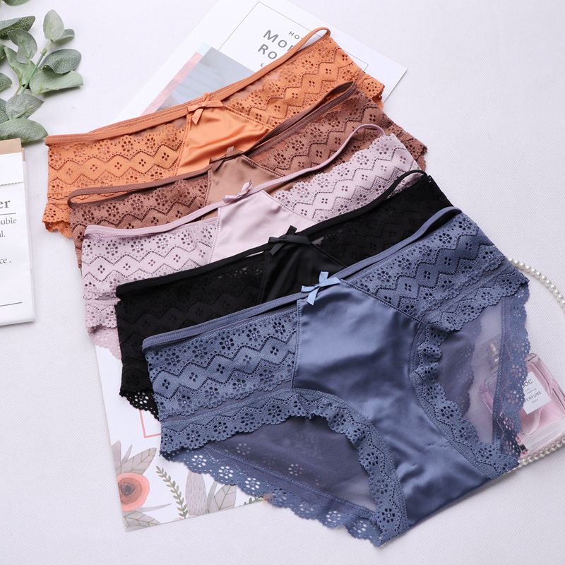 SP&CITY Sexy Women's Underpant Lace Bandage Seamless Panties Bow Underwear Hollow Out Thong Transparent Lingerie Mid-rise String