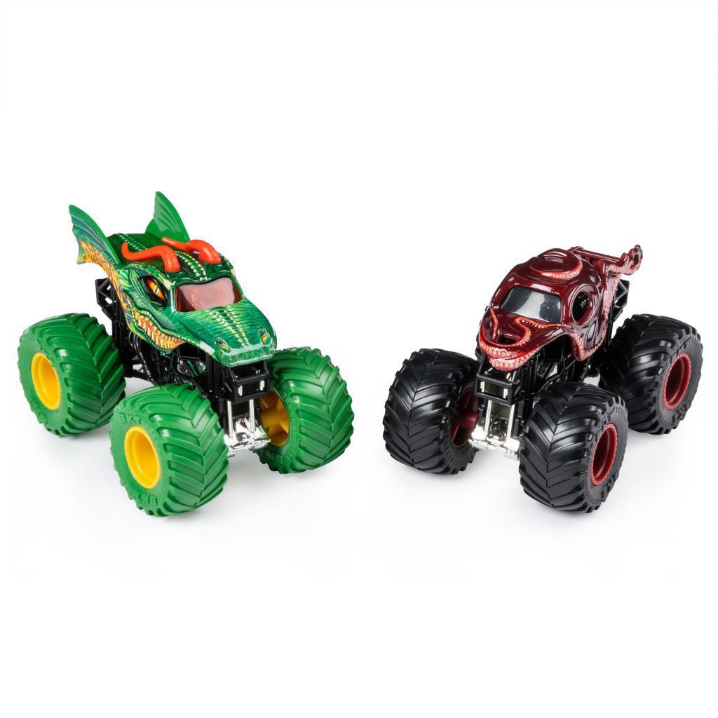 Monster Jam Crazy Monster Truck CHILDREN'S Toy Race Car Boy Alloy Car Static Model 2-Pack