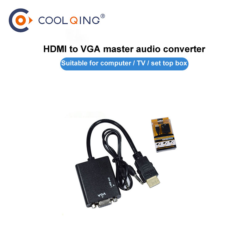 HDMI to VGA Adapter for PS4 Pro Raspberry Pi 3 2 Chromebook TV HDMI VGA Adapter Cable with Audio 3 5 mm jack in Computer Cables Connectors from Computer Office