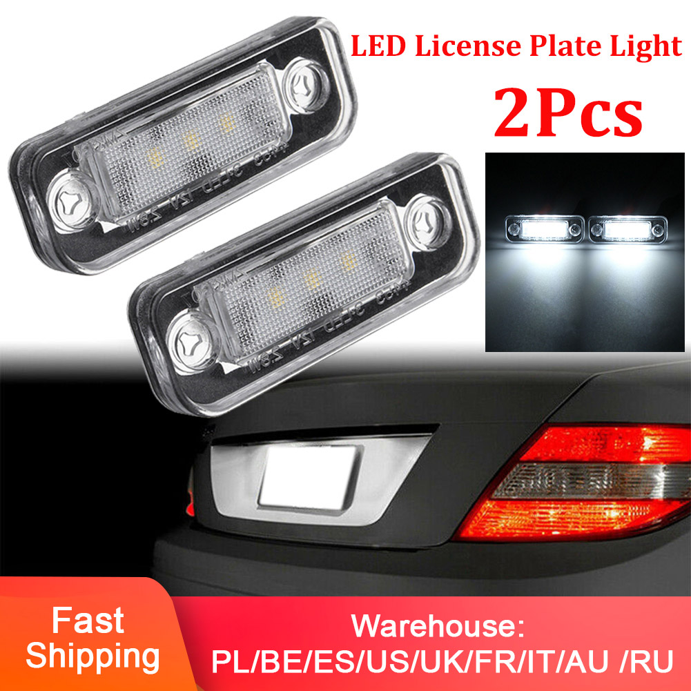 LED License Plate Light Lamp Error Free For Mercedes Benz W203 5D W211 W219 R171