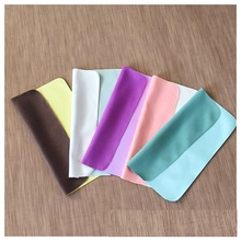 5pcs Chamois Glasses Cleaner 145*175mm Microfiber Glasses Cleaning Cloth For Lens Phone Screen
