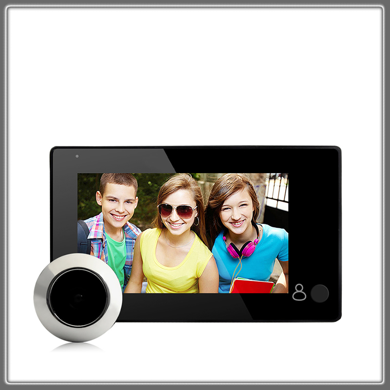 1080P глазок дверная камера 4,3 дюймов цветной экран с дверным звонком светодиодный электронный дверной звонок просмотра безопасности M4300B