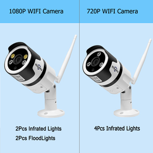 Image 5 - Hiseeu Wifi açık IP kamera 1080P 720P su geçirmez 2.0MP kablosuz CCTV güvenlik kamera metal iki yönlü ses p2P Bullet ONVIF