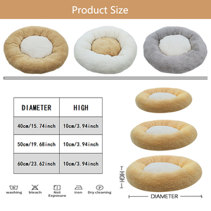 Image 2 - Round Cat Bed House  Soft Coral velvet Pet Dog Bed For Dogs Basket Pet Products Cushion Cat Pet Bed Mat Cat House Animals Sofa