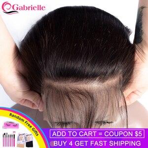 Image 1 - גבריאל שיער ברזילאי ישר 7x7 סגירת שיער טבעי תחרה סגר עם תינוק שיער שוויצרי תחרה 8 22 צבע טבעי רמי שיער