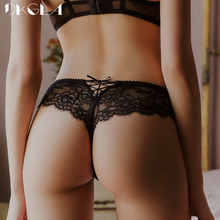 New Fashion Sexy G-String Lady 3 Piece Panties Transparent Lace Thong Women Underwear Soft Low-Rise Thongs Embroidery