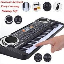 61 teclas piano música digital teclado eletrônico preto piano elétrico crianças presente com microfone teclado instrumento quente!