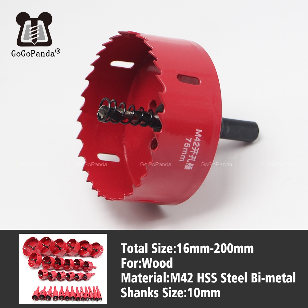 Free Shipping 16-200mm Bi-Metal Wood Hole Saws Bit For Woodworking DIY Wood Cutter Drill Bit