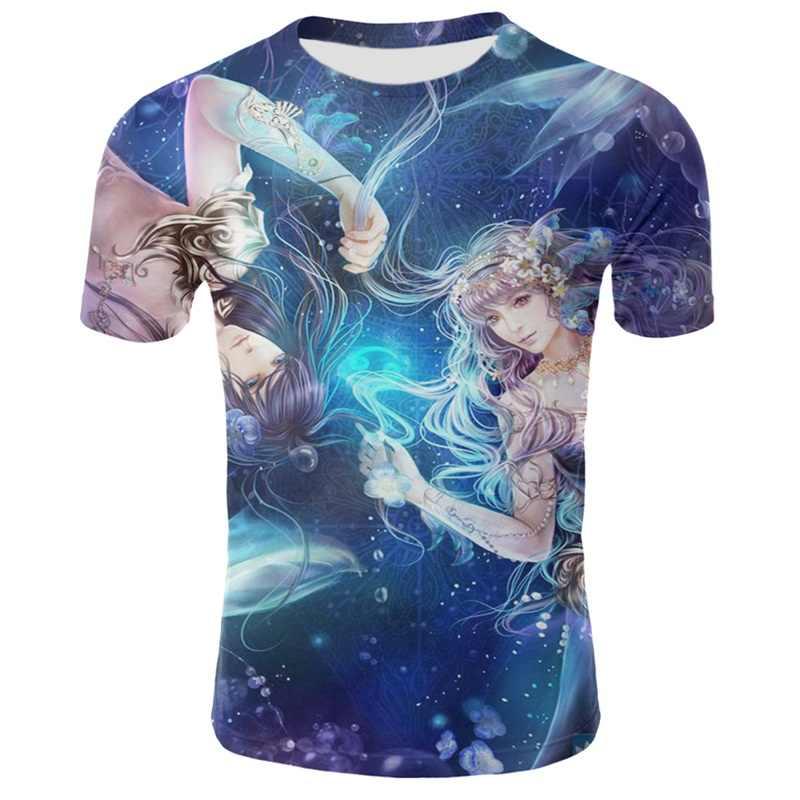 Anime Druck Romantische Prinzessin Und Prinz T-shirts Einzigartig Entwickelt herren Shirts Sommer Neue herren Kurzarm Und Tees