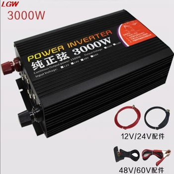 цена на Pure sine wave inverter DC12V 24V 48V 60V to AC220V 3000W solar power converter for automotive voltage converter inverter