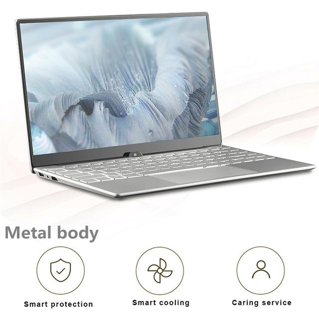 Max RAM 32GB Rom 2TB SSD Ultrabook Gaming Laptop Computer 2.4G/5.0G Wifi Bluetooth Intel Celeron 5205U Metal Windows 10 Laptop 1
