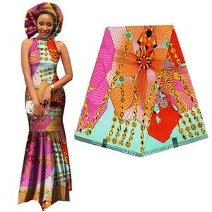 Image 4 - 우수한 아프리카 직물 진짜 왁스 바틱 100% 코 튼 고품질 앙카라 인쇄 Pagne Tissu 드레스 공예에 대 한 바느질 재료