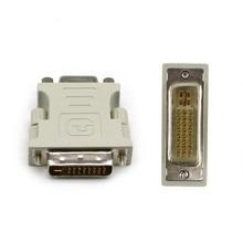 DVI-I 24 + 5 Pin DVI в VGA штекер-гнездо адаптер видеоконвертера для ПК ноутбука для графических карт компьютера 1080P HDTV монитора