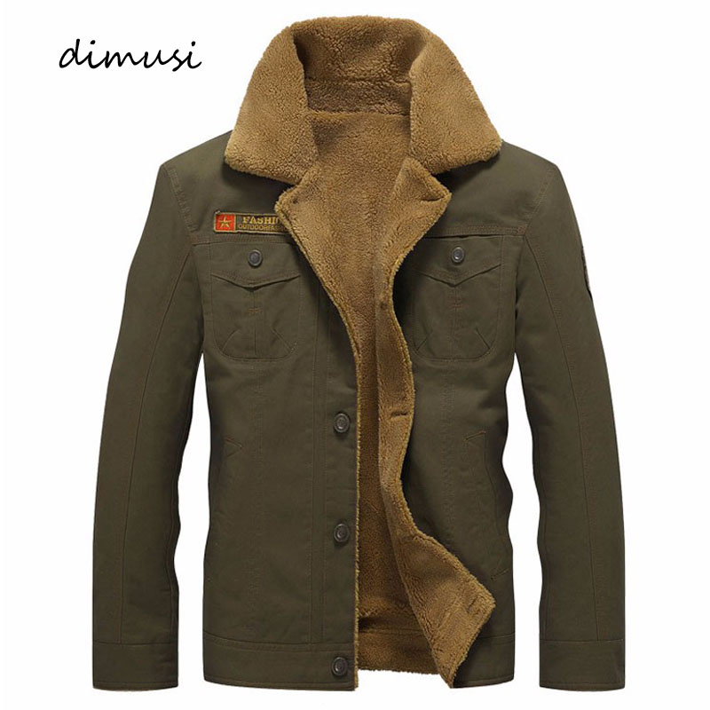 DIMUSI Winter Jacket Mens Military Fleece Warm jackets Male Fur Collar Coats Army Tactical Jacket Jaqueta Masculina 5XL,PA061