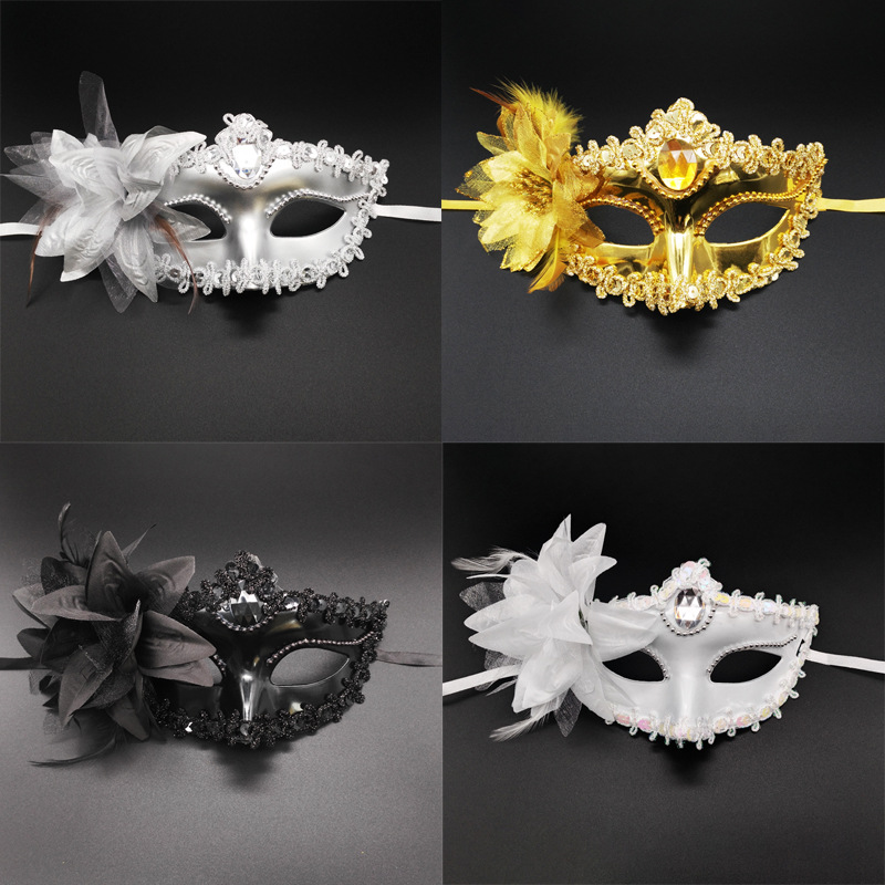 Sexy Diamond Venetian Mask  Feather Flower Wedding Carnival Halloween Party  Costume Sexy Lady Mask Masquerade
