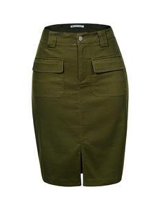 GLO-STORY Ladies Skirts Pencil High-Waist Denim Women Summer Sexy Fashion WQZ-1803 Work-Wear