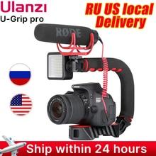 Ulanzi Soporte de zapata Triple u grip Pro, mango estabilizador de vídeo, agarre de cámara de vídeo, Kit de equipo de vídeo para teléfono Nikon, Canon, iPhone X, 8, 7
