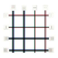Cubierta de extremo de conector individual/doble, Cable sin soldadura de 15cm, 2/3/4/5 pines, IP30 para tira Led RGB WS2812 5050, PCB de 10mm, 5 uds.