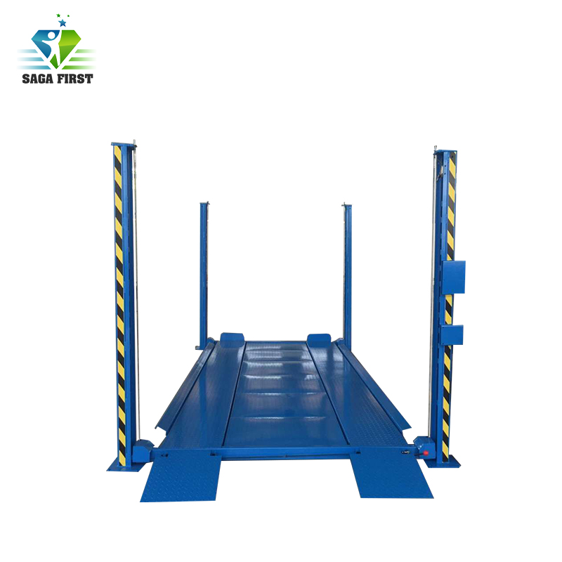 Residential Hydraulic Four Post Car  Lift With 3600kg Load Capacity