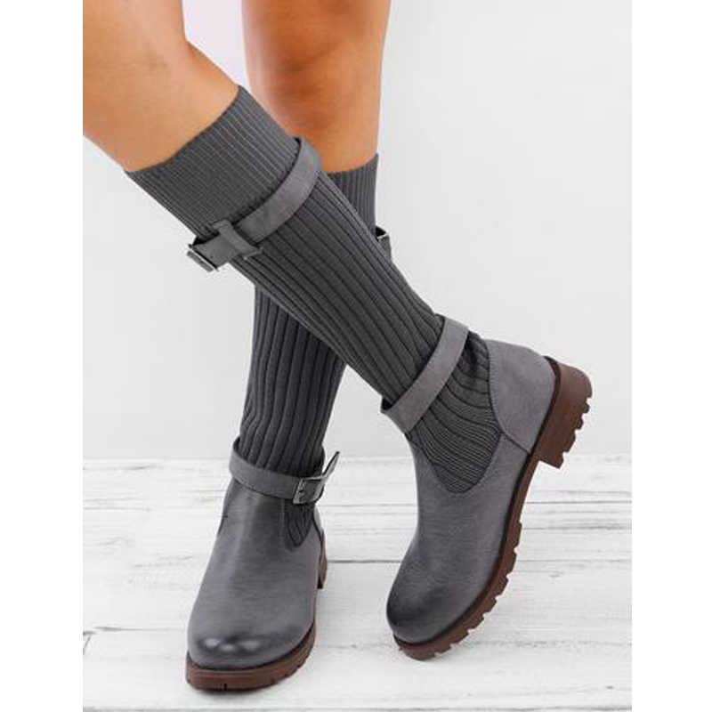 LOOZYKIT 2019 New Breathable Boots Women Summer Sneakers Flat Platform Shoes Woman Sock Shoes Female Socks Boots 2019