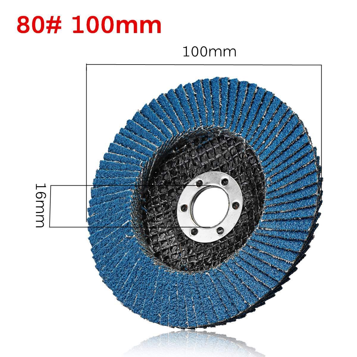 40/ 60/80 /120 Grit 100mm Grinding Wheels Flap Discs Grinder Sanding Discs Metal Plastic Wood Abrasive Tool