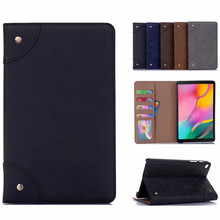 2019 New For Samsung Galaxy Tab A 8.0 2019 Case Retro Book PU Leather Cover Flip Wallet Card Slot Stand Case for SM-T290 T295 litchi texture pu pc horizontal flip leather case for galaxy note 9 with with card slot black