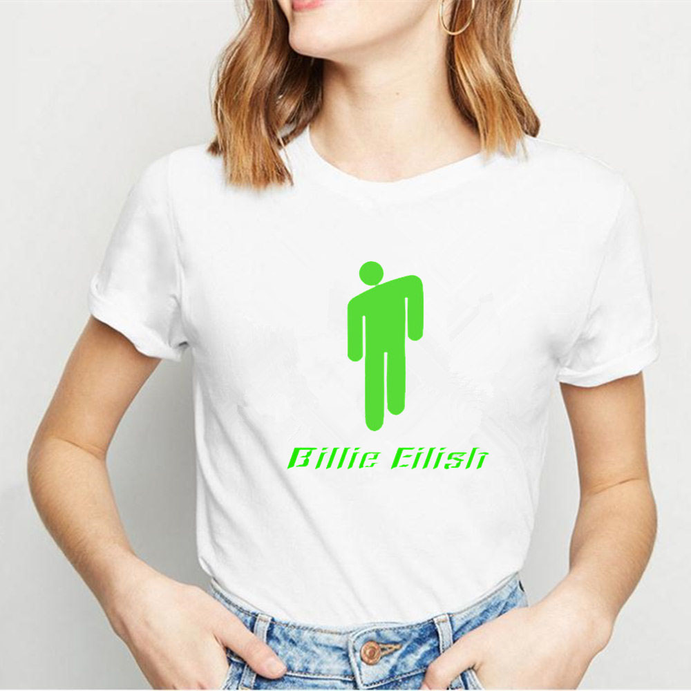 summer <font><b>2019</b></font> Billie Eilish T Shirt Men/<font><b>women</b></font> couple clothes Hip Pop Streetwear funny t shirts <font><b>Graphic</b></font> <font><b>Tees</b></font> Tops t-shirt homme image