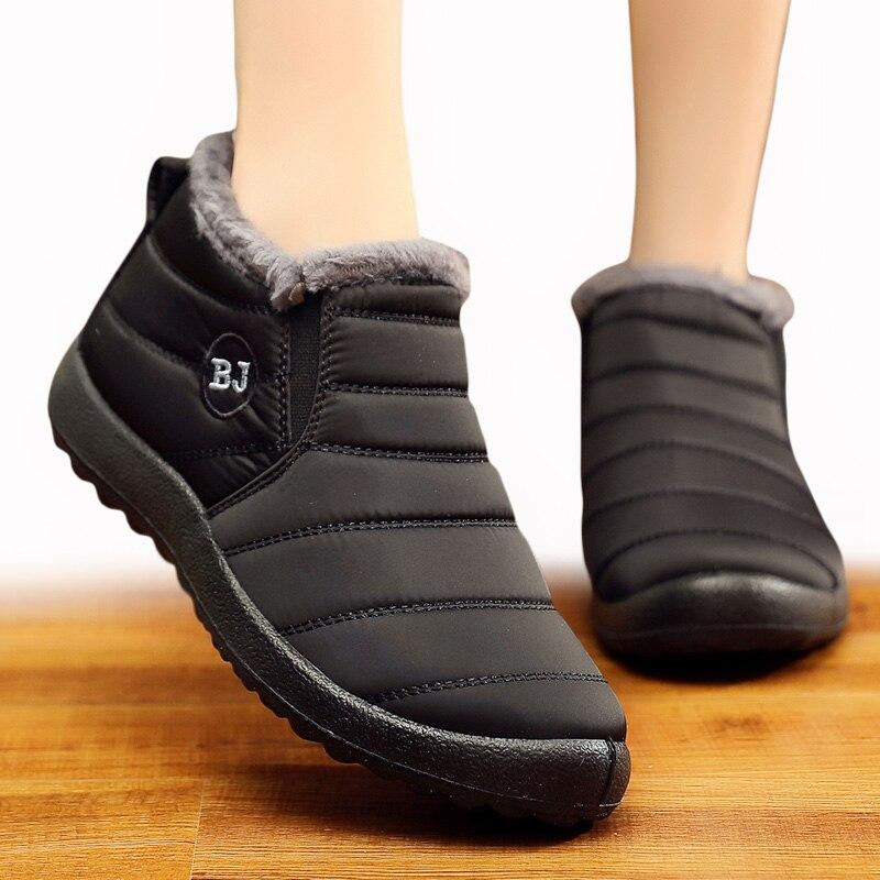 Botas femininas para inverno botas de neve sapatos mulher mais tamanho 43 botas de tornozelo mulher super quente botas mujer sapatos de inverno feminino
