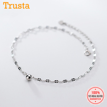 Anklets Chain Beads 925-Sterling-Silver Women Fashion Trustdavis for Wife Best Friend