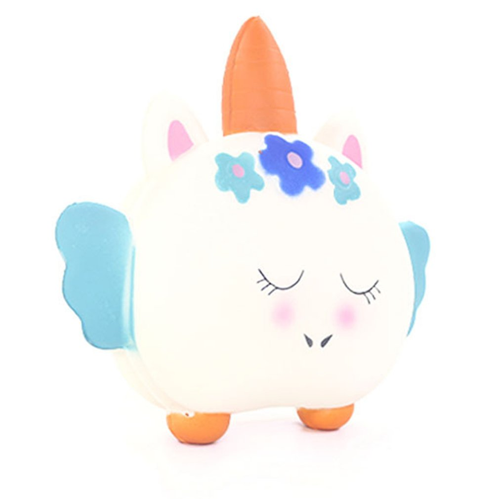 Creative Small Gift Hand Squeezing Adult Decompression Boring Slow Simulation Dinosaur/Flamingo/Unicorn Cat With Wings Toys