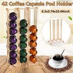 42 kubki kawy kapsułki uchwyt kawy stacja dokująca stojak wystawowy kapsuła do przechowywania kawy stojak na kapsułki Nespresso w Zestawy akcesoriów do kawy od Dom i ogród na