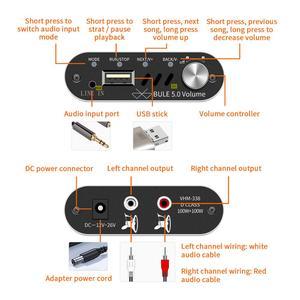Image 4 - Vhm338 mini amplificador digital hifi stereo, bluetooth 5.0, hifi stereo, receptor de audio sem fio, amp 100w + 100w, som para carros amplificadores