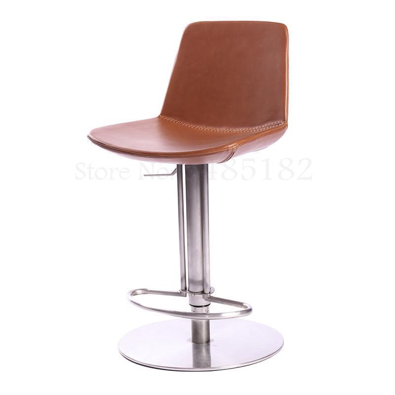 Bar Stool Stainless Steel Swivel Bar Chair Restaurant High Stool Dining Chair Simple Modern High Stool