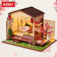 Roombox-casa de muñecas en miniatura para niños, juguete de casa de muñecas en miniatura, rompecabezas