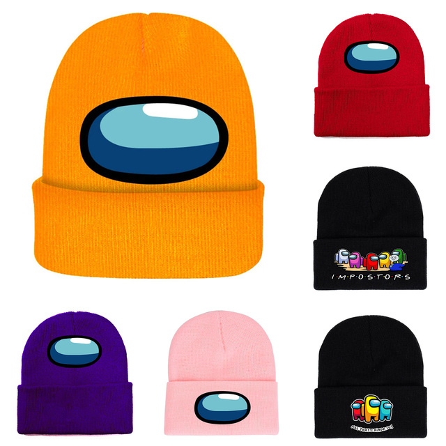 40 style Among Us Game toy Printing Harajuku Hats Women Autumn Warm Street Men Winter Hat Cotoon Fashion Ski Caps For Boys 1