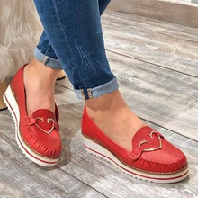 Women Flats shoes 2020 spring autumn Platform Leather Casual Shoes  ladies wedges loafers vintage female sneakers zapatos mujer
