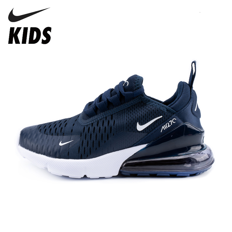 Nike Air Max 270 (gs) Original Kids Shoes Breathable New Arrival Running Shoes Outdoor Comfortable Sports Sneakers #943345