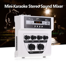 Sound-Mixer Muslady Pc-Amplifier Echo Dual-Microphone Bt-Recording Stereo MP3 Mini