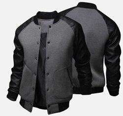 Мужская бейсбольная куртка ZOGAA, модная крутая осенняя куртка в стиле пэчворк с воротником-стойкой, Повседневная приталенная куртка и пальто...