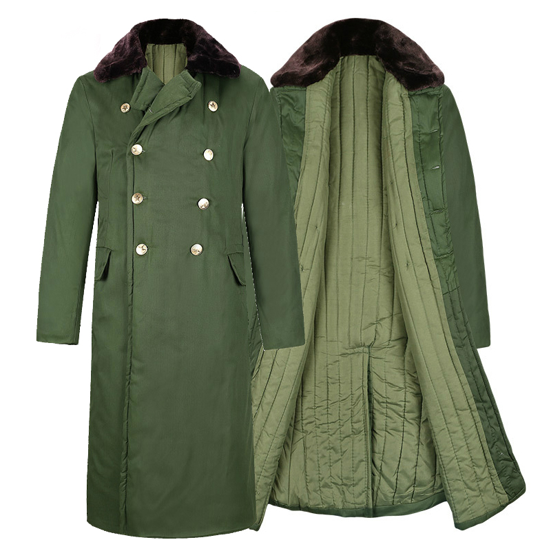 Men Winter Coat  Windbreaker  Cotton  Military Thicken Cotton-padded Overcoat Army Green Chinese Clothes For Men Uniform